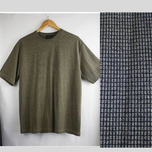 Men's Claiborne Taupe & Black Knit Tee SZ M